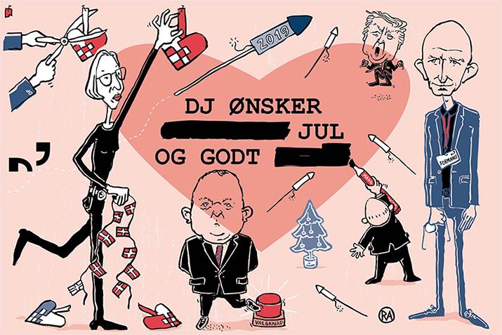 Rikke Ahm for Dansk Journalistforbund: Julekort